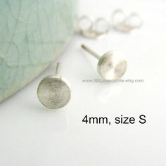 4mm Disc Studs For Men Stud Earrings Tragus