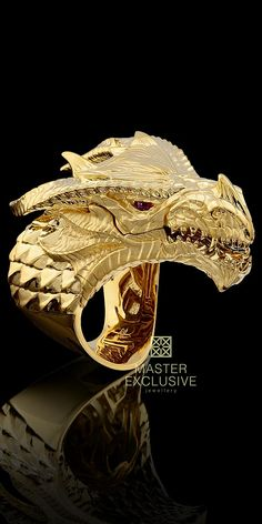 *** Wild discounts on fine jewelry at http://jewelrydealsnow.com/?a=jewelry_deals *** # Master Exclusive Jewellery 18K Gold Dragon ring, with ruby eyes