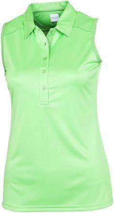 AUR Ladies and Plus Size Carbocool Sleeveless Golf Shirts - Wasabi