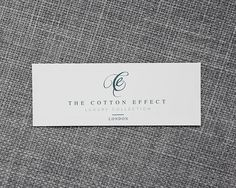 Brand design for The Cotton Effect; An exclusive London based linen company.