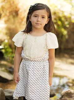 Girl And A Mouse Polka Dot Party Dress