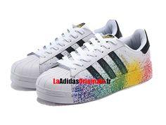 fa7fa5dfaa2 Adidas Superstar Pride Pack LGBT - Chaussure Adidas Originals Pas Cher Pour  Homme Femme Blanc