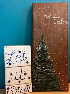 Hand painted creations.  Winter scene all is calm Custom orders Autumntrout17@yahoo.com
