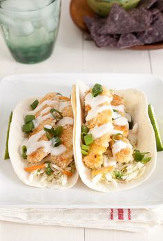 Crispy Baked Fish Tacos with Margarita Slaw