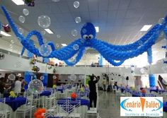 Fundo do Mar - fondo del mar, decoracion con globos