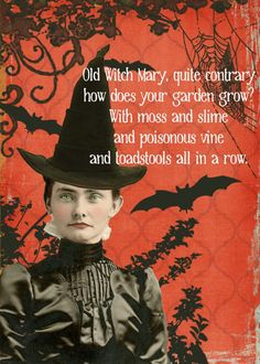 Halloween Rhyme I think I will craft a spooky looking book this year with pages like this.