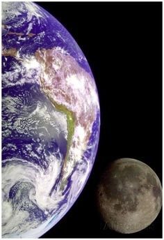 Earth And Moon (From Space) Photo Poster Print Poster at AllPosters.com