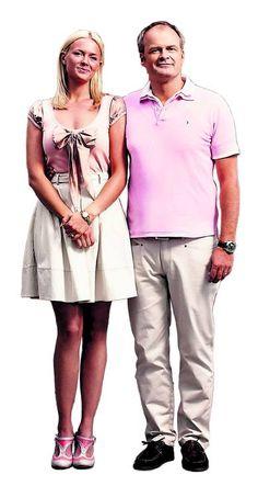 Solsidan TV serie / Josephine Bornebusch as Mickan &  Johan Rhenborg as Fredde.