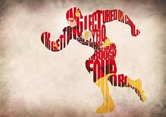 The Flash Inspired Typographic Print and Poster by GeekMyWalL