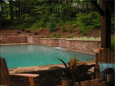 swimming pools with retaining walls - Google Search