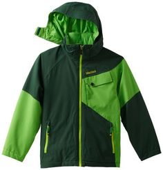 Marmot Boy's Mantra Jacket, Deep Forest/Bright Grass, X-Large by Marmot. $144.01. Sturdy protection that's lightweight, waterproof and breathable, the Mantra opens up new vistas of pure fun. Marmot's advanced MemBrain fabric technology handles nasty weather; powder skirt and brushed tricot lining on collar and shoulders add protection. Zippered handwarmer plus chest and internal pockets keep valuables safe.