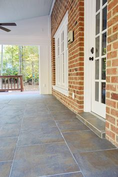 Gorgeous But Labor Intensive Tile Laid Over Concrete On A Porch Young House Love