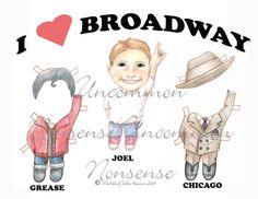 broadway boy paper doll