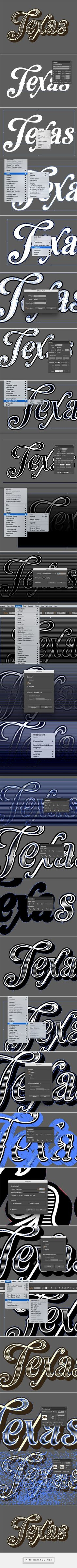 How To Create a Vintage Text Effect in Illustrator - created via pinthemall.net