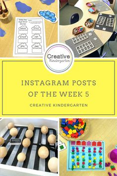 My Instagram posts of the week, Cloud Sight Words, loose pars math for teen numbers, our new egg incubator, and translating patterns