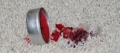 Wax in the carpet...