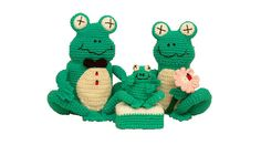 PDF Crochet Frog Pattern - Amigurumi Frog Pattern Toilet Paper Cover, Soap Cover, Cleanser Cover Bathroom Frogs(7234) Td creations