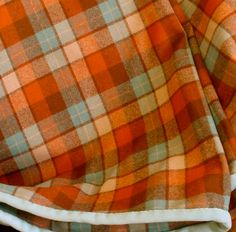 Pendleton Wool Throw Blanket Plaid in Dusty Orange by ohthisnose, $125.00
