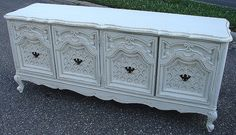 Reclaimed Vintage White Paint Distressed Rococo 4 by CURIOSITYNC, $299.00
