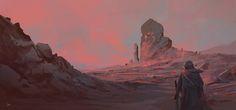 Landscape Sketch, Tom Lopez on ArtStation at https://www.artstation.com/artwork/k1Evl