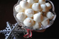 Eggnog Truffles from www.shugarysweets.com