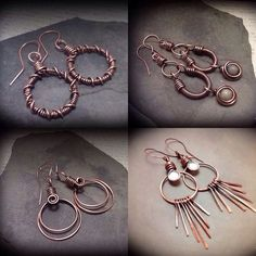 Wire earrings featured @ JCL