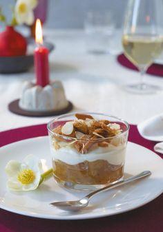 Rezept: Apfel-Trifle mit Spekulatiusgewürz