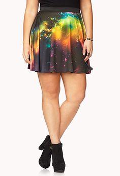 Celestial Skater Skirt | FOREVER 21 - 2040496352
