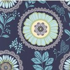 Amy Butler Wallpaper - Lacework - Ocean, Swatch - contemporary - wallpaper - by Design Public