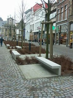Cantilevered street bench by Urbastyle, Belgium. Click image to enlarge & visit the slowottawa.ca  boards >> http://www.pinterest.com/slowottawa