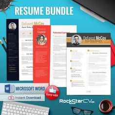 Resume with Picture Template Bundle by Resume Templates on Creative Market