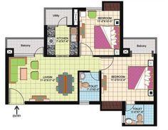 Floor Plan- 950 sqft.