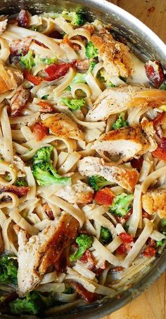 Chicken Broccoli Pasta, Bacon Pasta, Chicken Bacon, Creamy Chicken, Broccoli Salad, Keto Chicken, Chicken Salad, Pasta Salad, Chicken Pasta Dishes