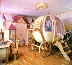 I had a Cinderella room when I was little. But this is the Cinderella room of all Cinderella rooms. Dream Rooms, Dream Bedroom, Girls Bedroom, Bedroom Ideas, Bedroom Designs, Bedroom Decor, Bedroom Furniture, Childs Bedroom, Bed Designs