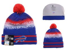 Mens   Womens Buffalo Bills New Era 2016 Winter Warm NFL Team Colors Spec  Blend Knit Beanie Hat With Pom - Blue   Red 82a9473b9fd4
