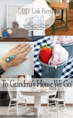 This link party is all about homemade, homemaking, DIY, recycling, upcycling, before and afters (of rooms, furniture, whatever), build projects, vintage.