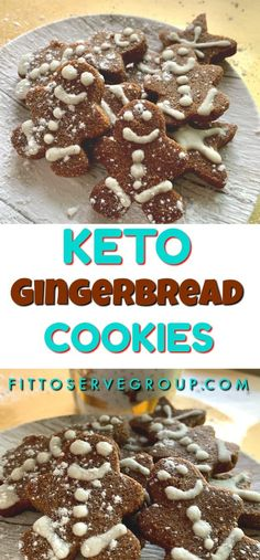 keto christmas cookies Weihnachtspltzchen This recipe for Keto Gingerbread Cookies is loaded with the flavors of ginger, cinnamon, and nutmeg for one delicious low carb holiday cookie treat. Low Carb Cupcakes, Low Carb Desserts, Ginger Bread Cookies Recipe, Keto Cookies, Cinnamon Cookies, Keto Holiday, Holiday Recipes, Holiday Foods, Christmas Holiday