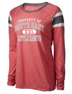 73998b181594a South East Junior High School Little Hawks Augusta Sportswear Women s Long…  Hawks