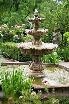 Fountain in yard