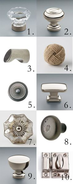 Tracery's favorite Knobs and Latches