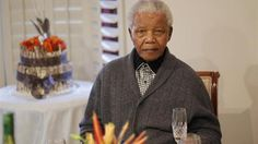 Mandela hospitalized: Former South African president Nelson Mandela looks on as he celebrates his birthday at his house in Qunu. IMAGE.  (Reuters Photo)