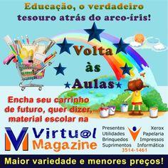 Volta às aulas é na Papelaria Virtual. Menores preços e maior variedade. #VoltaAsAulas #MaterialEscolar