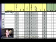 3 Month Food Supply Excel NEW AND IMPROVED