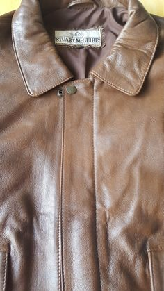Authentic Designer Stewart McGuire Men's Leather Bomber Jacket by FeedingHearts on Etsy