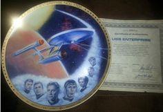 Star Trek Collector Plate - USS Enterprise on Etsy