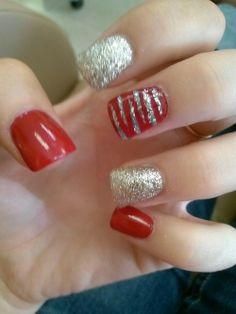 red and silver