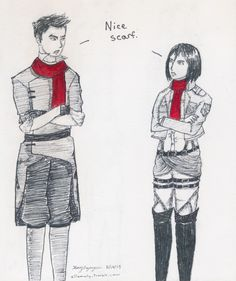 Legend of Korra x Shingeki no Kyojin/Attack on Titans - Mako and Mikasa - didn't know where to put this, so I'll stick it here :)