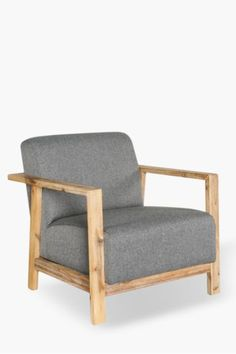Our modern and stylish maddox chair provides an urban charm to your lounge setting. The wooden arms accentuate its style.