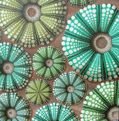 Urchin patterns by New Zealand artist, Jo Bridge ...