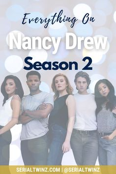 NANCY DREW SEASON 2   Missing Nancy Drew? We do too, that's why we wrote a blog post about everything we know about the upcoming Nancy Drew Season 2 which should premiere on The CW on January 20, 2021. So click the pin to read all about Nancy Drew Season 2 starring the talented Kennedy McMann, Maddison Jaizani, Leah Lewis and more: news, cast, plot, spoilers, S1 Recap, trailer, promo, and more   #NancyDrew #DrewCrew #NancyDrewS2 #TheCW Cw Tv Series, Marvel Series, Drama Series, Book Series, Scott Wolf, The Cw Tv Shows, Ally Mcbeal, Devious Maids, Famous In Love